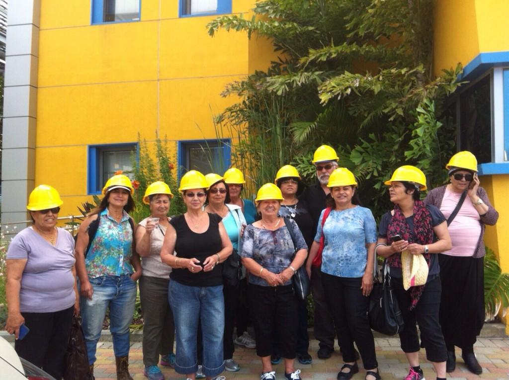 מכללת לכיש- טיול עם קסדות צהובות
